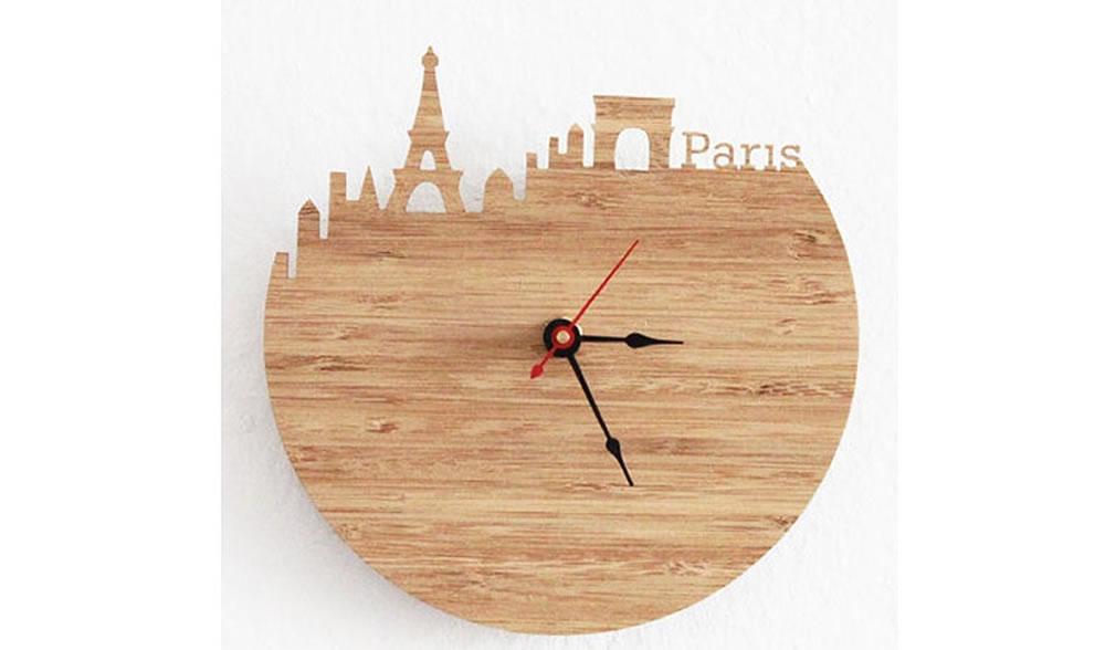 万博manbetx官网地址雕刻创意城市剪影时钟