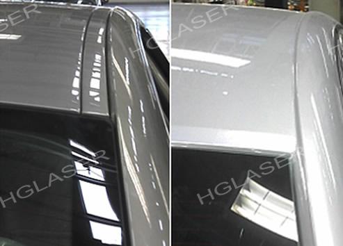 电阻点焊与激光钎焊在车顶盖应用的外观对比