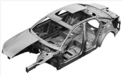 奥迪铝合金车身结构