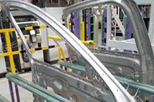 白车身侧门焊接样品
