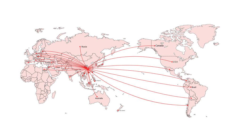 华工激光国际营销网络